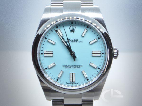 Rolex Oyster Perpetual *Cadran Tiffany